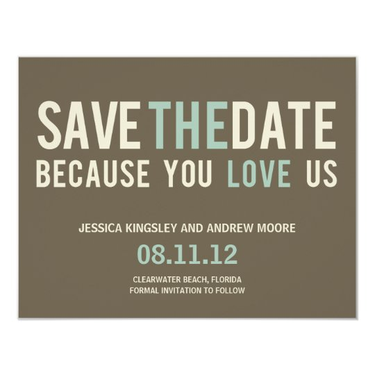 Irresistible Request Save The Date Card - Grey