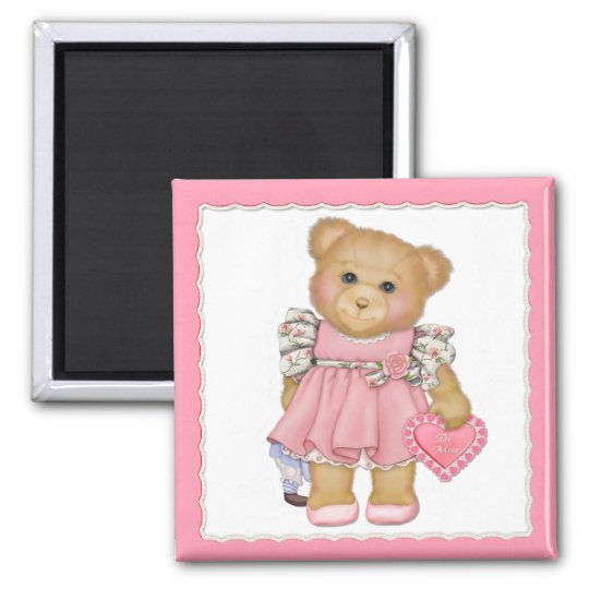 Irresistible Teddy Square Magnet