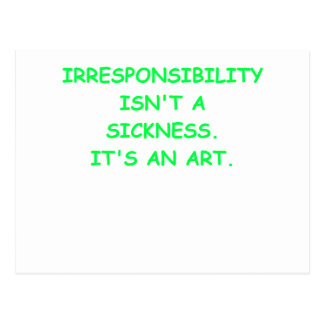 irresponsible postcard