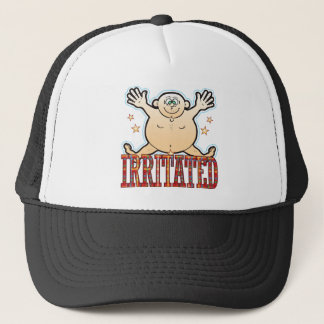 Irritated Fat Man Trucker Hat
