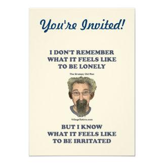 Irritated Old Man Husband 13 Cm X 18 Cm Invitation Card