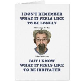 Irritated Old Man Husband Note Card