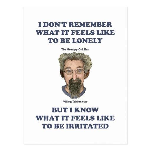 Irritated Old Man Husband Post Card