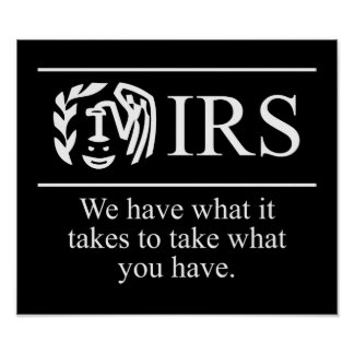 IRS $24.95 Graphic Art Wall Poster