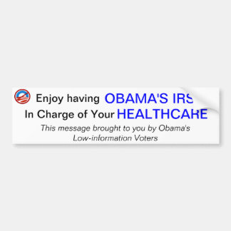 IRS and Healthcare Bumper Stickers