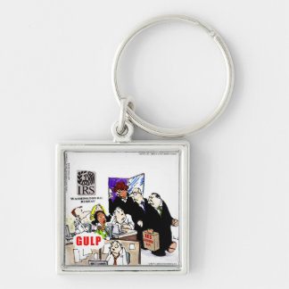 IRS Audits IRS Funny Silver-Colored Square Key Ring
