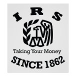 IRS - Internal Revenue Service Poster