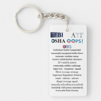 IRS Scandal Acronym Single-Sided Rectangular Acrylic Key Ring