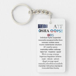 IRS Scandal Acronym Single-Sided Rectangular Acrylic Key Ring