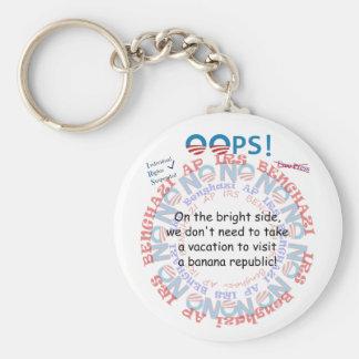 IRS Scandal Banana Republic Basic Round Button Key Ring