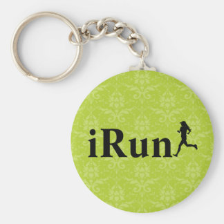 iRun Around Humorous Running Keychain for Girls