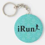 iRun Around Humorous Running Keychain for Girls