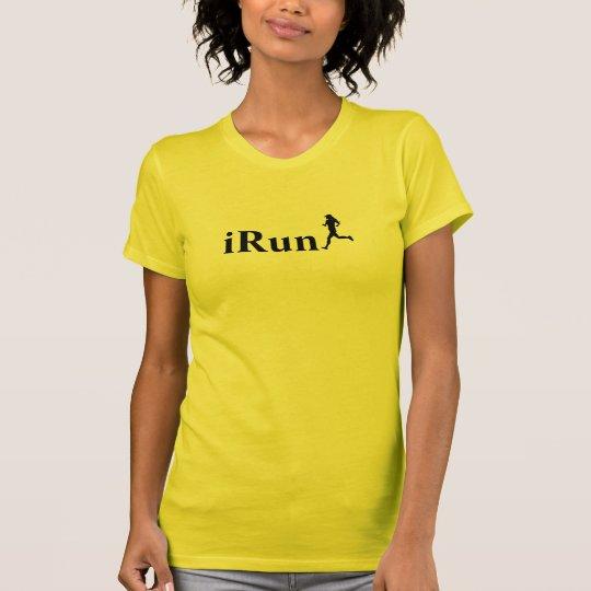 iRun Gold/Yellow Running T-Shirt for Women