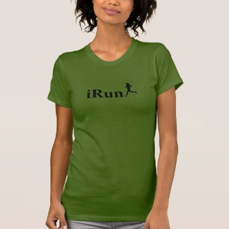 iRun Olive Green Running T-Shirt for Women