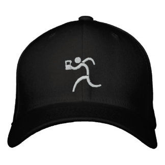 IRunToDrink Embroidered Black Baseball Cap