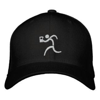 IRunToDrink Embroidered Black Baseball Cap