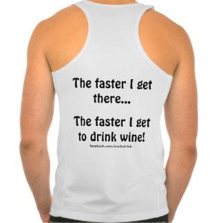"""IRunToDrink Tank Top - """"I get to drink wine """""""