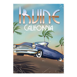 Irvine California Travel poster Art Photo