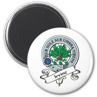 Irvine Clan Badge 6 Cm Round Magnet