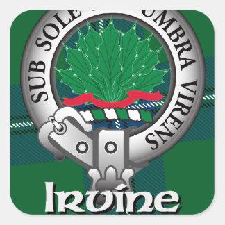 Irvine Clan Square Sticker