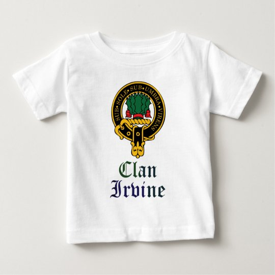 Irvine scottish crest and tartan clan name baby