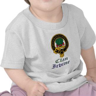 Irvine scottish crest and tartan clan name tshirt