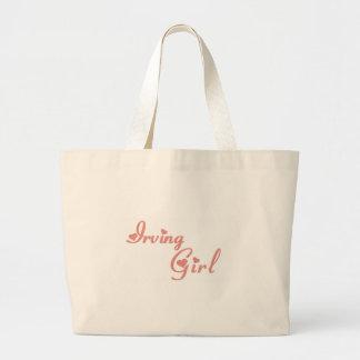 Irving Girl tee shirts Canvas Bag