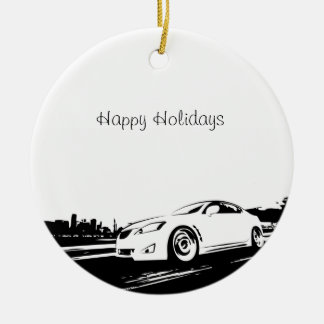 IS350 Rolling Shot with  Black Silhouette Logo Christmas Ornament