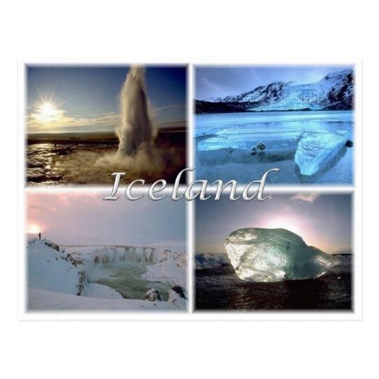 IS Island - Iceland - Postcard