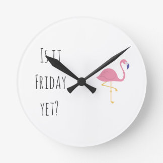 """Is it Friday yet?"" clock"