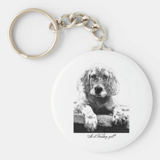 Is it Friday yet? Basic Round Button Key Ring