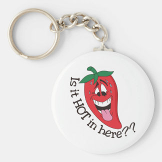 Is It Hot In Here? Basic Round Button Key Ring
