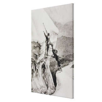 Is it Possible?, from 'Scrambles Amongst the Alps' Canvas Print