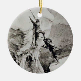 Is it Possible?, from 'Scrambles Amongst the Alps' Round Ceramic Decoration