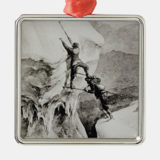 Is it Possible?, from 'Scrambles Amongst the Alps' Silver-Colored Square Decoration
