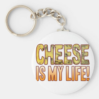 Is My Life Blue Cheese Basic Round Button Key Ring