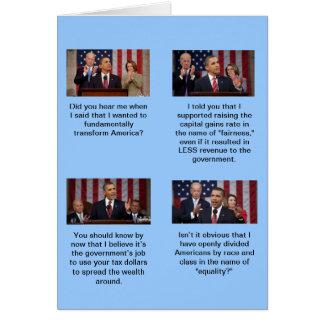 Is Obama a socialist?  Does 2 plus 2 equal 4? Card