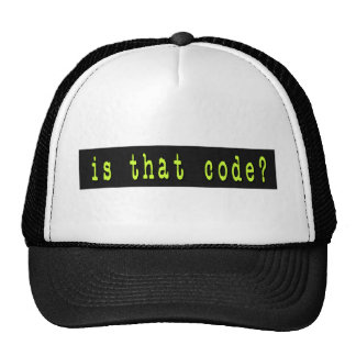 Is That Code Digital Trucker Hats