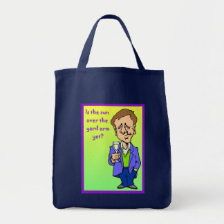 Is the sun over the yard arm yet? tote bag