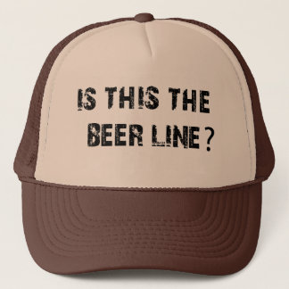 Is This The Beer Line Trucker Hat