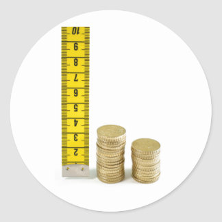 Is your money growing? round sticker