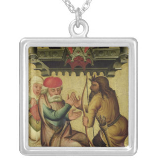 Isaac and Esau from the High Altar Silver Plated Necklace