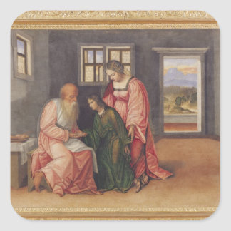 Isaac Blessing Jacob, c.1520 Square Sticker