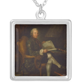 Isaac Egmont von Chasot at his Desk , 1750 Silver Plated Necklace