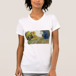 Isaac Levitan-Autumn evening. Trail in the forest. T Shirt