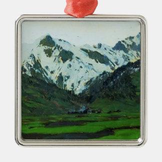 Isaac Levitan- In Alps at spring Christmas Ornaments