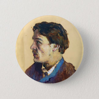 Isaac Levitan- Portrait of writer Anton Chekhov 6 Cm Round Badge