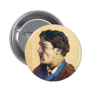 Isaac Levitan- Portrait of writer Anton Chekhov 6 Cm Round Badge