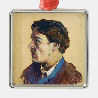 Isaac Levitan- Portrait of writer Anton Chekhov Christmas Ornament