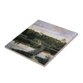 Isaac Levitan- Quiet cloister Tile